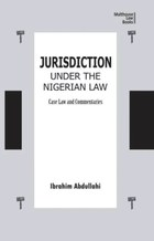 Jurisdiction Under Nigerian Law