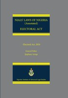 NIALS Laws of Nigeria. Electoral Act
