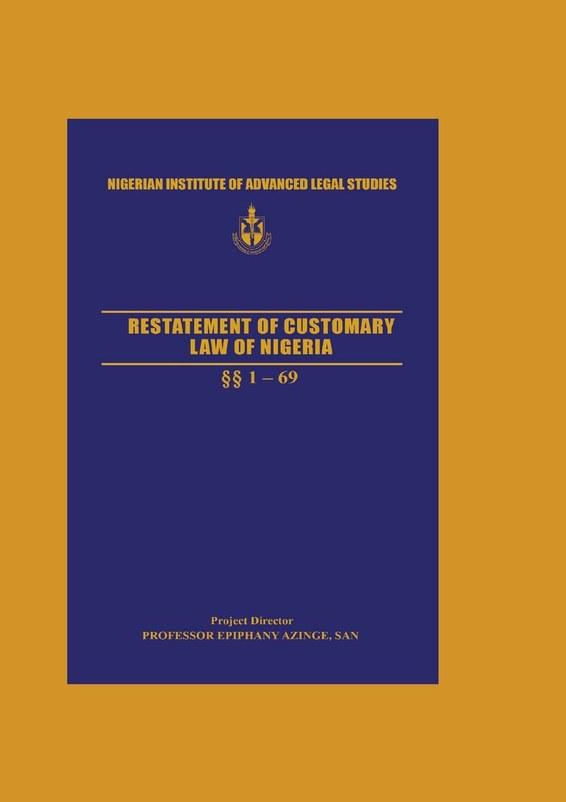 Restatement of Customary Law of Nigeria